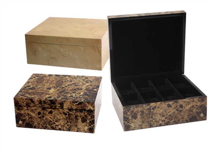 8 Slots Watch Storage Box UV Coating / Embossed Logol Environmentally Friendly