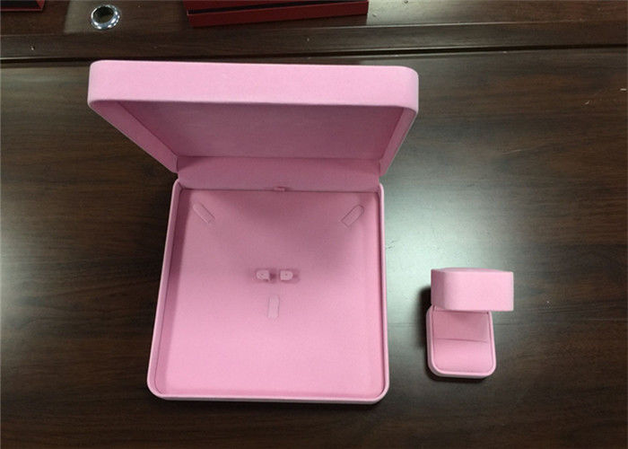 Luxury Pink Plastic Earring Storage Box , Eco - Friendly Ladies Jewellery Box