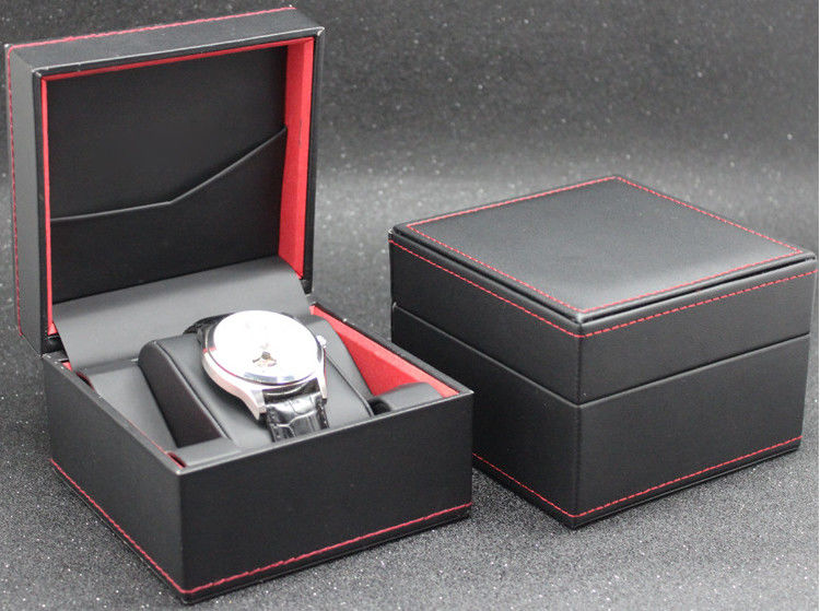 Eco - Friendly Plastic Watch Box PU Leather Outside Waterproof Environmentally Friendly